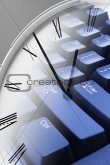 Clock and Keyboard
