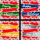 4 Christmas and New Year Greeting Cards