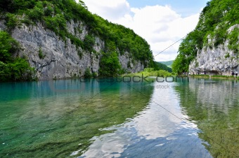 Reflection in Plitvice Lakes National Park, Croatia