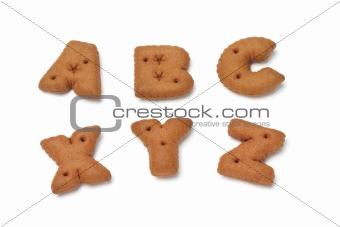 ABC XYZ alphabet chocolate cookies