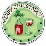 celebration wine sticker