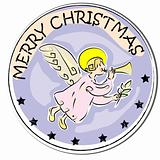 christmas angel sticker