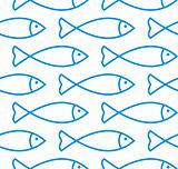 Fish seamless vector pattern