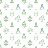 Christmas trees, seamless