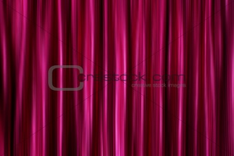 Purple silky satin curtains