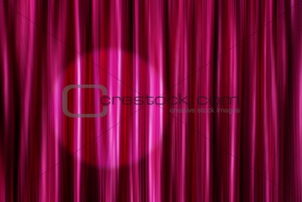 Purple curtains with light spot