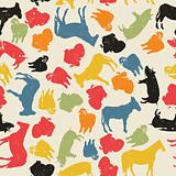Farm animals seamless pattern