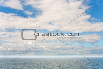 view on north sea in cloudy day