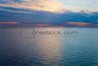sunset on Baltic Sea