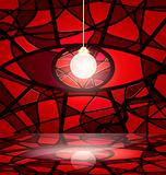 red abstract room
