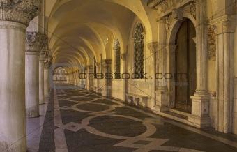 Archways, Doge's Palace, Venice, Italy.