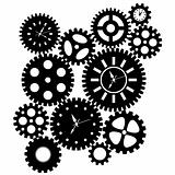 Time Clock Gears Clipart
