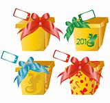 4 vector gift boxes
