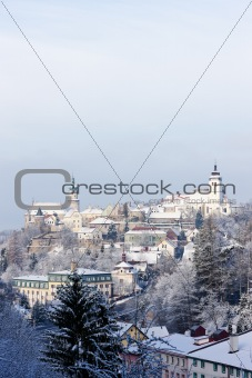 Nove Mesto nad Metuji in winter, Czech Republic
