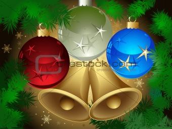 christmas ball, background