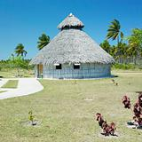demonstration of aboriginal hut, Bahia de Bariay, Holguin Province, Cuba
