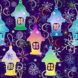Vivid Christmas seamless pattern