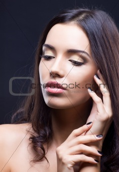 Beauty shot of young girl with natural makeup