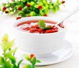 Hot fresh minestrone soup