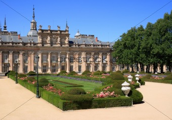 Royal Palace and gardens of La Granja de San Ildefonso (Spain)