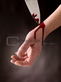 Suicide attempt - Guy cutting veins
