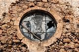 Round old vintage window