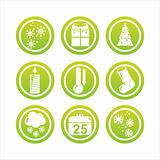 green christmas signs