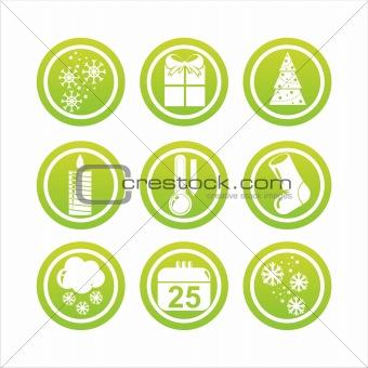 green christmas signs