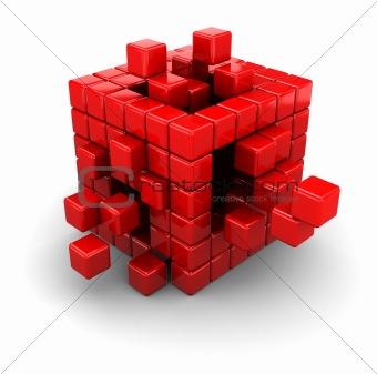 3d boxes structure