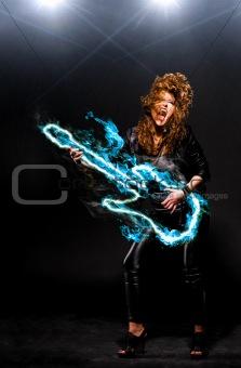 rock woman play blue guitar neon crop vert 0411(54).jpg