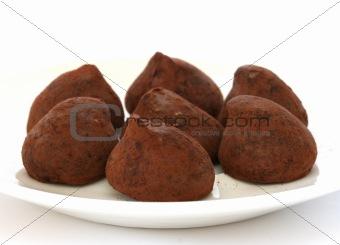 Chocolate truffle pralines