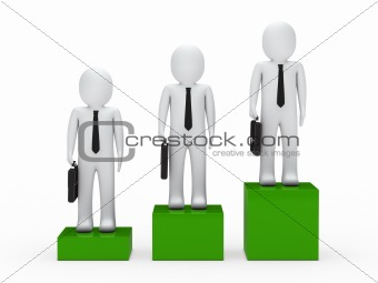 3d business man team
