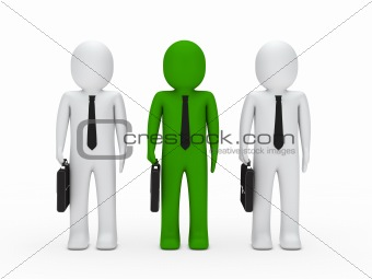 business man team