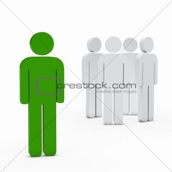 business team leader green