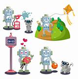 cartoon robot set