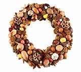 Dry fruit wreath
