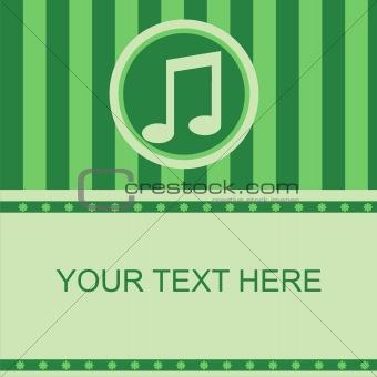 green musical frame
