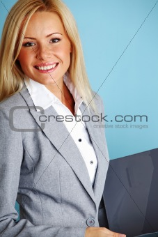 business woman hold a folder