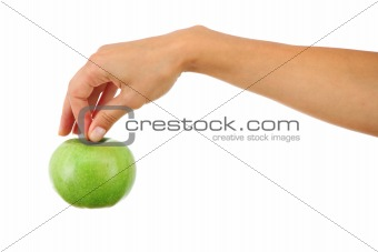 apple in woman hands