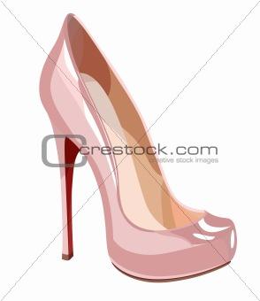 Elegant pink shoe