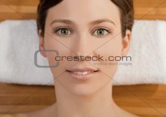 Beautiful girl on a spa