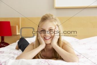 Portrait Of Teenage Girl In Bedroom