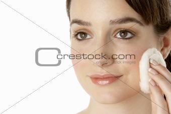 Teenage Girl Applying Make Up