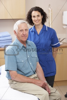 Portrait of male and female osteopath
