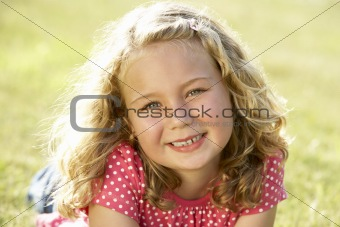 Portrait of young girl in countryside