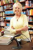Female bookshop proprietor