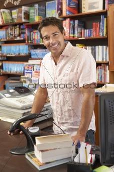 Male bookshop proprietor