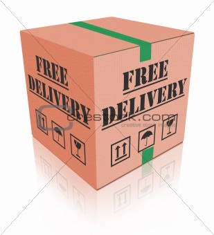 free delivery carboard box package