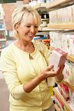Female customer buying herbal tea