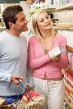 Couple shopping in health food shop
